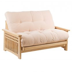 Akino 2 Seater Oak Futon